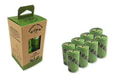 Plastikfreie Kotbeutel - Box mit 8 Rollen