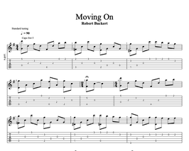 Moving On (Tabs + Sheet Music)