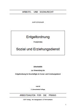 Entgeltordnung des Sozial- und Erziehungsdienstes (TVöD-VKA) - AP 60