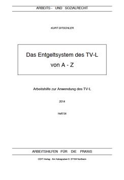 Das Entgeltsystem des TV-L von A-Z - AP 54