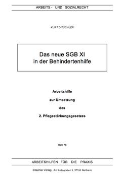 Die Änderungen des neuen SGB XI für die Behindertenhilfe - AP 78