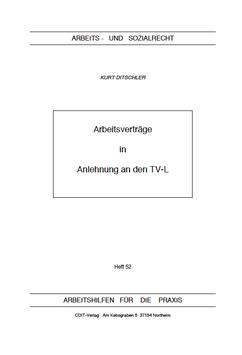 Arbeitsverträge in Anlehnung an den TV-L - AP 52