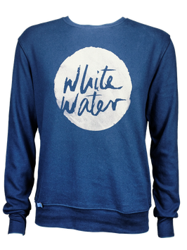 "Men Sweater ""White Water"" // Navy"