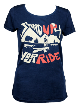 """Shirt """"Stand Up 4 Your Ride"""" // Navy"""