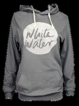 "Unisex Hoodie ""White Water"" // Anthracite"