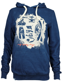 """Unisex Hoodie """"My Daily Toys"""" // Navy"""