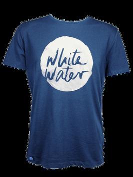 "Men T-Shirt ""White Water"" // Navy"