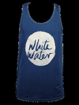 """Men Tanktop """"White Water"""" // Navy"""