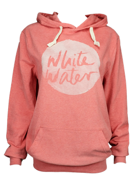 "Unisex Hoodie ""White Water"" // Mid Heather Red"