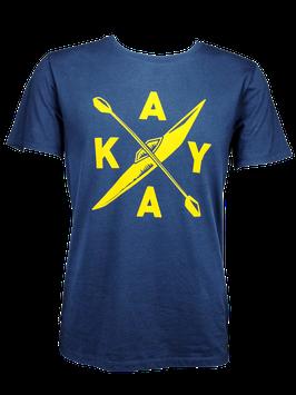 "Men T-Shirt ""Kayak"" // Navy"