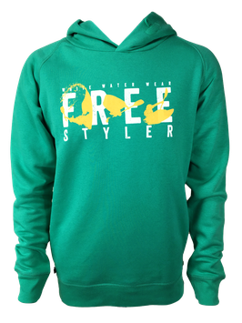 "Men Hoodie ""Freestyler"" // Vivid Green"