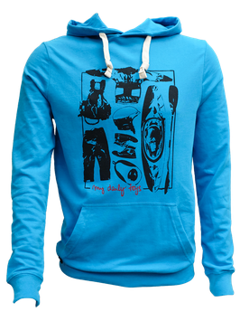 """Unisex Hoodie """"My Daily Toys"""" // Azur"""