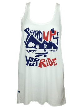"Tanktop ""Stand Up 4 Your Ride"" // White"