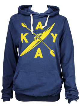 """Unisex Hoodie """"Kayak"""" // Navy"""