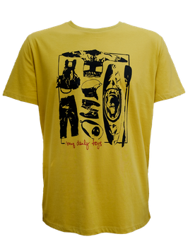 "Men T-Shirt ""My Daily Toys"" // Mustard Yellow"