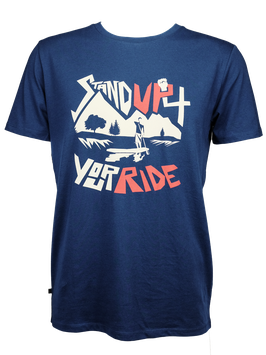 "Men T-Shirt ""Stand Up 4 Your Ride"" // Navy"