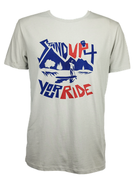 "Men T-Shirt ""Stand Up 4 Your Ride"" // Stone"