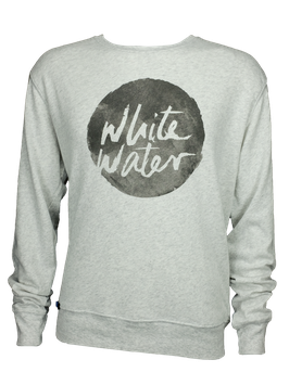 "Men Sweater ""White Water"" // Heather Grey"