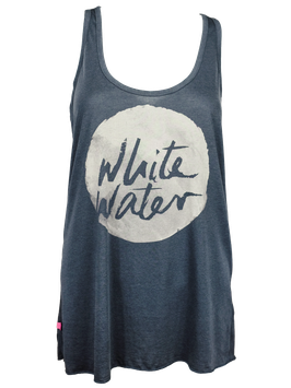 "Tanktop ""White Water"" // Anthracite"