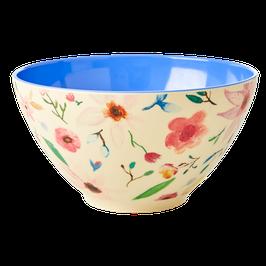Large Melamine Saladbowl - Selmas Flower Print von RICE