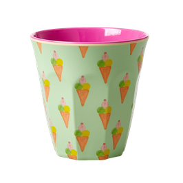 Medium Melamine Cup - Ice Cream Print von RICE