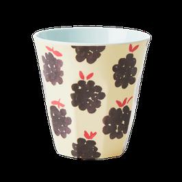 Medium Melamine Cup - Blueberry Print von RICE