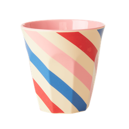 Medium Melamin Becher Candy Stripes von RICE