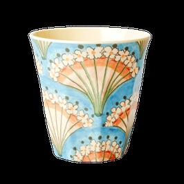 Medium Melamine Cup - Flower Fan Print von RICE