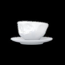 Tasse mit Unterteller 200ml lecker