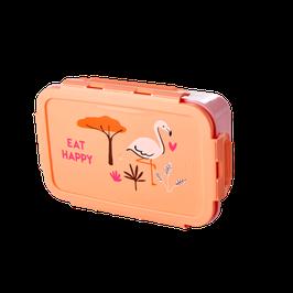 RICE Brotdose Jungle mit Flamingo rosa