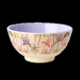 Medium Melamine Bowl - Iris Print von RICE