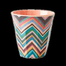 Medium Melamine Cup - ZigZag Print von RICE