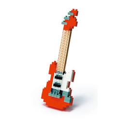Nanoblock 3D-Puzzle Gitarre in Micro-Format