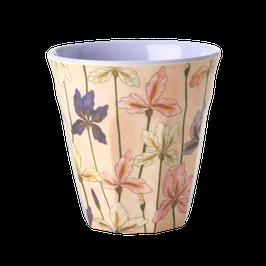 Medium Melamine Cup Iris Print von RICE