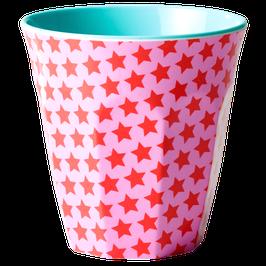 Medium Melamine Cup - Little Stars Print von RICE