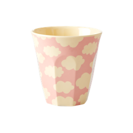 Small Melamine Kids Cup  - Cloud Print von RICE