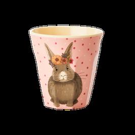 Small Melamine Kids Cup  - Farm Animals Print von RICE