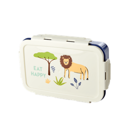 RICE Brotdose Jungle mit Löwe blau
