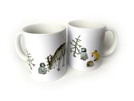 Tasse: Weihnachten mit Pinguinen