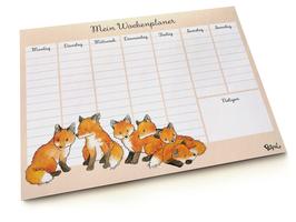 Wochenplaner: Fuchsgruppe DIN A4, 50 Blatt