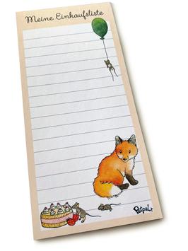 Einkaufsliste: Fuchs und Mäuse