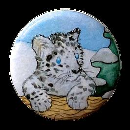 Button: Schneeleopard