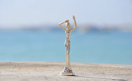 Esperanza Warnemünde Skulptur als Miniatur Reise-Esperanza, versilbert