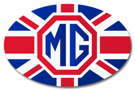 mg - union jack | oval