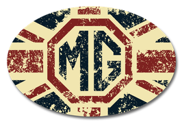 mg - union jack Grunge | oval