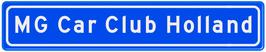 Original Dutch Street Sign