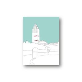 Poster, Hochzeitsturm, gezeichnet, drei Farbvarianten