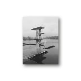 Poster, Sprungturm Woog, Fotografie