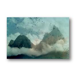 Vogelschwarm in den Alpen