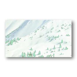 Schneelandschaft mit Tannen